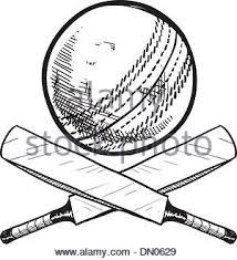 sketch cricket player hit the ball design vector stock vector art