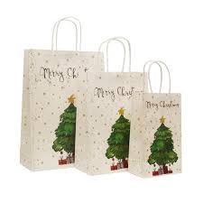 christmas paper bags online shop 10 pcs lot 21x13x8cm christmas paper bag with handles