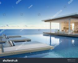 Big House Design Luxury Beach House Sea View Swimming ภาพประกอบสต อก 654194959