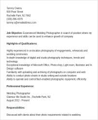 Great Sample Resume by Sample Photographer Resume 9 Examples In Word Pdf