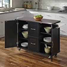 Dolly Madison Kitchen Island Cart Amazon Com Home Styles 4515 95 Patriot Kitchen Cart Black