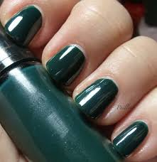 paillette a little nail polish journal pair of dark greens
