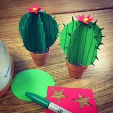 paper cactus paper cactus paper punch and cacti
