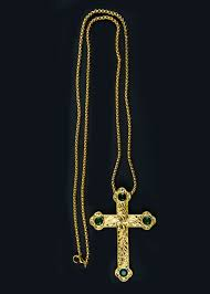 pectoral crosses pectoral cross with chain style sbats013 g g emerald green stones