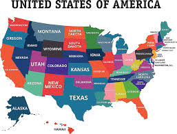 united states map with states names and capitals official and non official nicknames of u s states