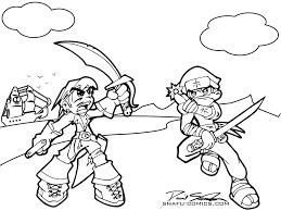 coloring book pirate ninja by snafudave on deviantart