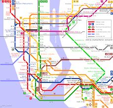 map of ny subway new york metro subway map travelquaz