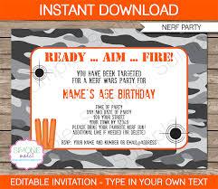 nerf party invitations nerf invitations birthday party