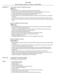 clinical manager resume social work manager resume sles velvet