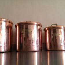 copper kitchen canister sets shop copper canisters on wanelo