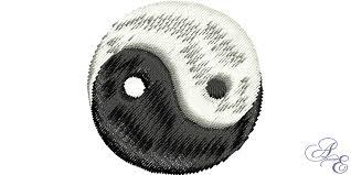 yin yang small of embroidery