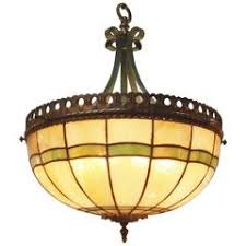 Stained Glass Light Fixtures I P Frink Stained Glass Hanging Light Fixtures For Sale At 1stdibs