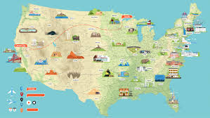 City Map Of Arizona by United States Map Click And Learn United States Political Map Map