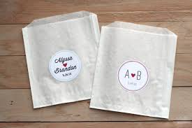 custom favor bags 25 personalized wedding stickers favor bags custom stickers