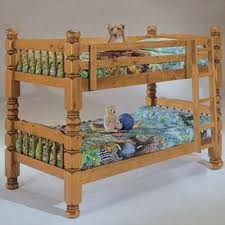 Big Bunk Bed Honey Pine Big Post Solid Wood Size Bunk Bed 3811 Bernards