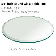 Round 54 Inch Dining Table Glass Table Top 54 Inch Round 1 2 Inch Thick Tempered