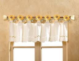 Sunflower Valance Curtains Bright Detailed Country Sunflower Kitchen Window Valance New