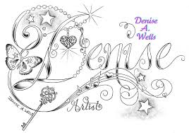 unique denise name tattoo design by denise a wells flickr