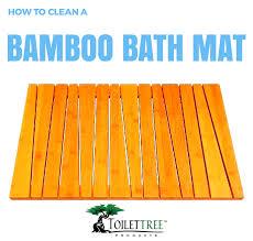 how to clean a bamboo bath mat