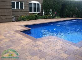 pool patio pavers exterior design modern semi inground pools with exciting