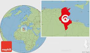 tunisia map flag location map of tunisia savanna style outside