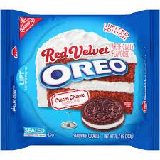 oreo red velvet sandwich cookies 12 oz walmart com