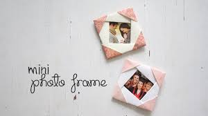 Photo Frame Diy Cute Mini Photo Frame Youtube
