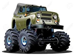 the bigfoot monster truck cartoon monster truck royalty free cliparts vectors and stock