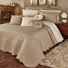 Oversized Quilted Bedspreads Everafter Almond Reversible Quilted Oversized Bedspread