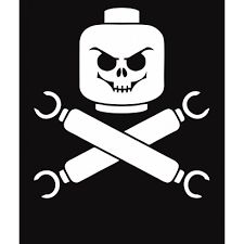 plastic pirate lego skull and crossbones geeky t shirt t
