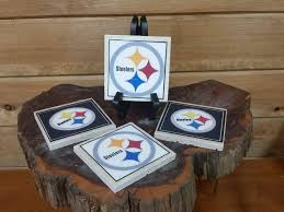 steelers home decor home decor pittsburgh steelers football image coasters set of 4