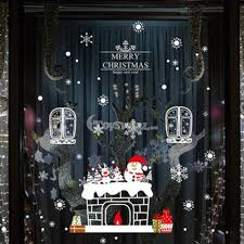 Christmas Window Glass Decorations by New Year U0026 Christmas Glass Decoration On Sale Snowman Window