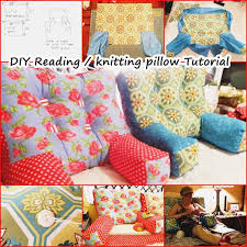 armed bed pillows wonderful diy reading knitting arm pillow