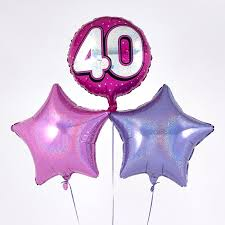 40th birthday balloons delivered pink 40th birthday balloon bouquet inflated free delivery