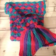 blanket handmade crocheted mermaid tail mermaid blanket