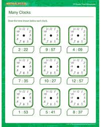 many clocks u2013 free telling the time printables for 3rd grade