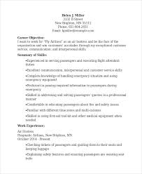 Flight Attendant Job Description Resume by Sample Hostess Resume Resume Templates Word Doc Resume Template