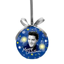 elvis decoupage led ornament
