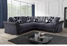 Fabric Corner Sofa Black Or Brown Sofa Direct