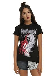 new year s tops new years day skeleton t shirt hot topic