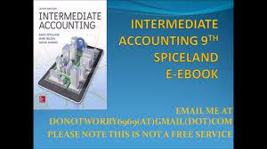 intermediate accounting 9th spiceland ebook youtube