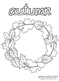 coloring page of fall useful wreath coloring page autumn print color fun 1991