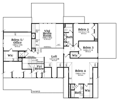 Media Room Floor Plans Country Style House Plan 5 Beds 4 00 Baths 4061 Sq Ft Plan 419 306
