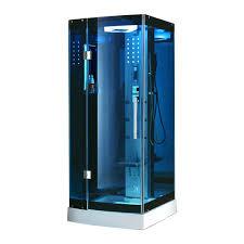 ariel 39 5 in x 39 5 in x 85 in steam shower enclosure kit in