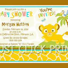 lion king baby shower invitations simba lion king baby shower invitation printable digitaldelight