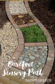 diy sensory path jpg backyard ideas pinterest outdoor play