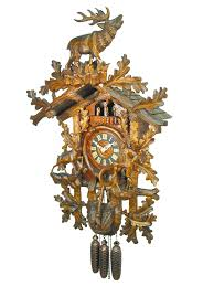 Antique Cuckoo Clock Carved 8 Day Large Hunter Style Cuckoo Clock With Music 89cm By
