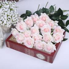 wedding flowers silk blush pink roses real touch light pink flowers silk wedding
