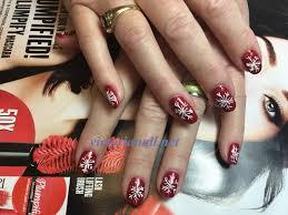 snow flake gel nails design gallery victorianail net
