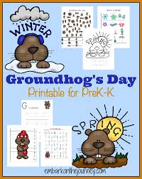 groundhog u0027s printable prek